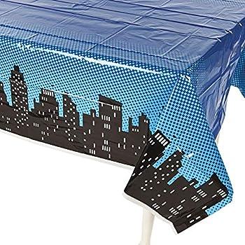 Superhero Plastic Tablecloth - Birthday Party Table Decor Supplies - 1 Piece