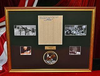 Signed CHARLES DUKE AP Wire, NASA Astronaut Apollo moonwalker & Apollo 11 CAPCOM, DVD, COA - NASA RARE!