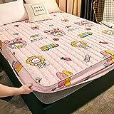 XGguo Sábana Ajustable súper Suave, cálida y acogedora Una Sola Pieza de sábana Impermeable y a Prueba de Polvo-9_90cm × 200cm
