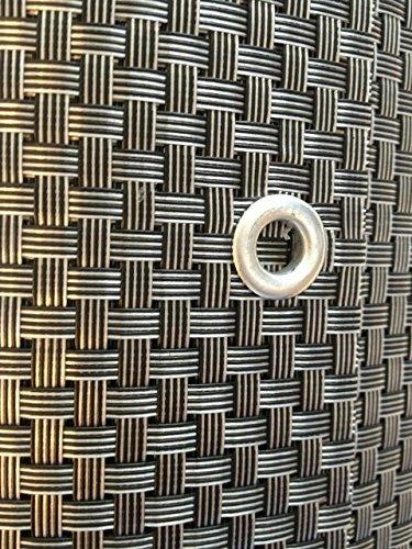 S&D Smart Deko 800x90cm Silber&Anthrazit Polyrattan Sichtschutz, Balkonsichtschutz, Windschutz, Balkonblende, Garten Sichtschutz