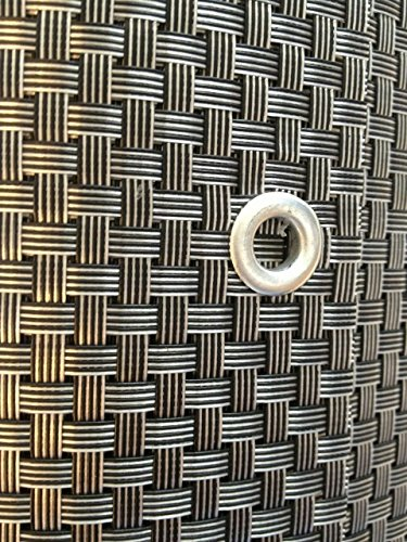 S&D Smart Deko 200x90cm Silber&Anthrazit Polyrattan Sichtschutz, Balkonsichtschutz, Windschutz, Balkonblende, Garten Sichtschutz