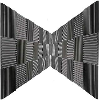 "48 Pack Acoustic Panels Studio Foam Wedges 1"" X 12"" X 12"" Color: Charcoal"