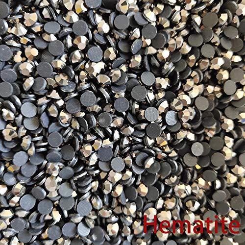 Venta al por mayor Paquete grande claro brillante piedras ss6 - ss30 Crystal AB Rhinestones para accesorios de ropa, hematita, SS20 100Gross