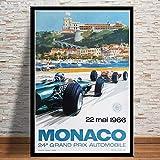 RQJOPE Leinwand Kunst Malerei Poster und Drucke Monaco