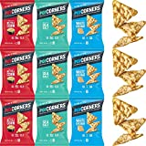 Popcorners Carnival Kettle, White Cheddar, Salt of the Earth, Crispy and Crunchy Popped Corn Chips - Variety Pack, 1oz Bag (12-Pack)