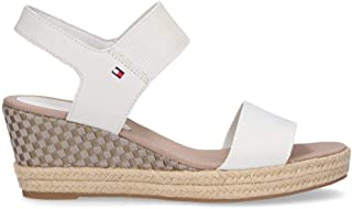 TOMMY HILFIGER Luxury Fashion Womens 2829121 White Wedges | Season Permanent