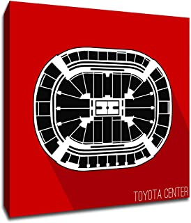 Houston - Toyota Center - Basketball Seating Map - 12x12 Gallery Wrapped Canvas Wall Art