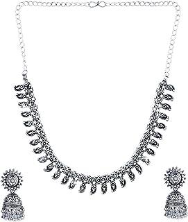 Yellow Chimes Oxidised Jewellery Sets Latest Design by Yellow Chimes Jewellery Set for Women (Silver Oxidized) (YCTJNS-TIR...