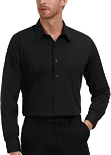 PAUL JONES Men's Business Casual Long Sleeves Dress Shirts