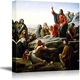 wall26 - The Sermon on The Mount by Carl Heinrich Bloch - Canvas Print Wall Art Famous Painting Reproduction - 24