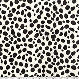 Shannon Fabrics Shannon Minky Cuddle Dalmatian Black/White Fabric By The Yard