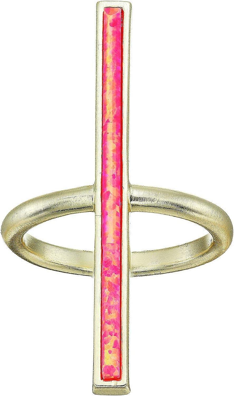 Kendra Scott Reggie Ring Gold/Hot Pink Opal 7