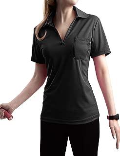 zip up polo shirt womens