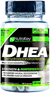 NutraKey Dhea Capsules, 100 mg, 100 Count