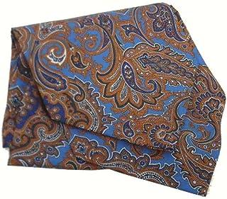 Avantgarde Foulard uomo di seta stampata disegni cashmere ascot cashecol made italy silk