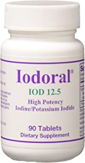 Optimox - Iodoral, High Potency Iodine Potassium Iodide Thyroid Support Supplement 12.5 milligrams, 90 Tablets