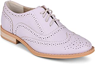 Wanted Shoes Womens Babe Oxford, Lilac, 8 M US