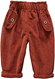 GEMVIE Toddler Kids Cotton Plaid Drawstring Pants Casual Lightweight Jogging Bottoms Trousers