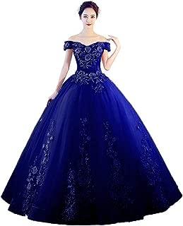 Women's Off The Shoulder Quinceanera Dress Applique Masquerade Ball Gownrom Dress