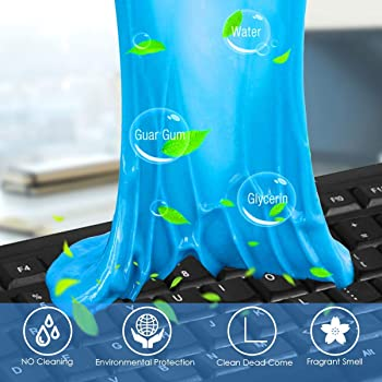 Keyboard Cleaner BEDEE (5pcs)+ Storage Box Cyber Cleaning Gel Electronics Clean Putty Slime Home Office Remove Dust, ...