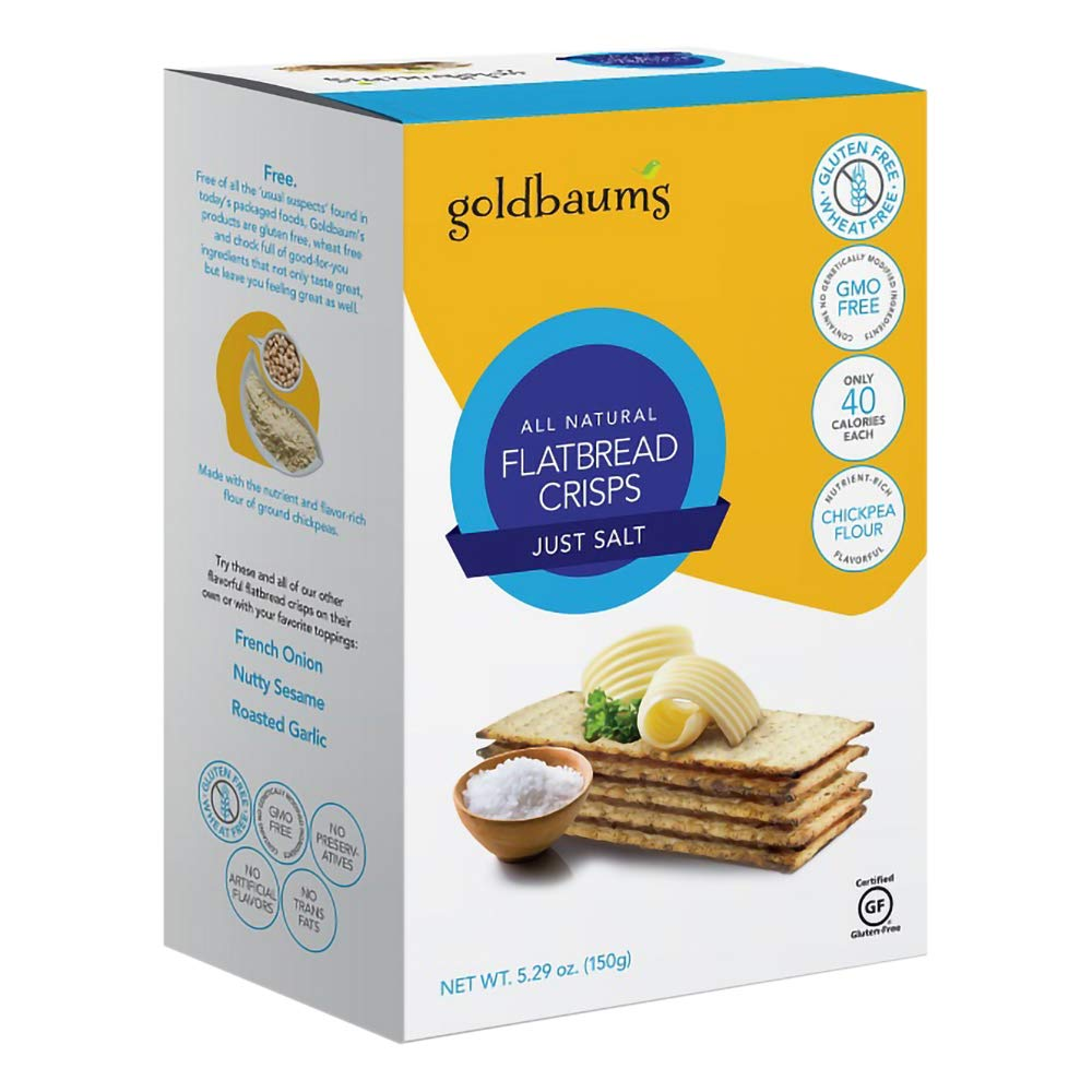 Flatbread Crisps Chickpea Flour Gluten-Free 5% OFF GMO-Free Kosher Max 52% OFF