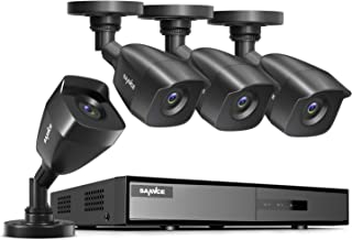SANNCE 4-Channel HD 1080N Security Camera System DVR and (4) 1.0MP Indoor/Outdoor Weatherproof Bullet Cameras with IR Nigh...