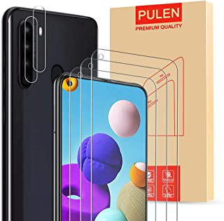 [3-Pack] PULEN for Samsung Galaxy A21 Screen Protector,HD Clear Scratch Resistant Bubble Free Anti-Fingerprints 9H Hardnes...