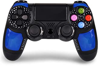 Game Controller for PS4- Double Shock 4 Wireless Controller for Playstation 4 – Joystick with Sixaxis, Bluetooth, Super Power, Micro USB, Multi-Touch Clickable Touch Pad- AUGEX Dipsey Diamond (Blue)