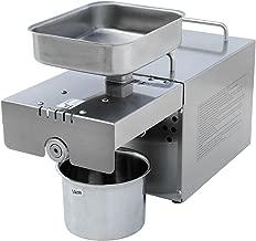 DC HOUSE Máquina de la prensa de aceite de acero inoxidable 304 Extractor del expulsor de aceite de la máquina de la prensa de aceite comercial y casero (prensa de aceite auto)