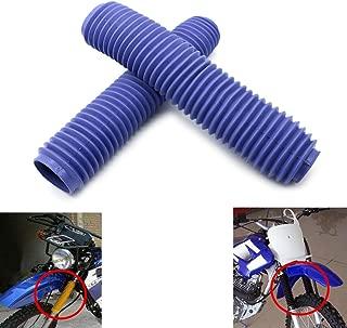 Alpha Rider Universal Motorcycle Off Road Blue Rubber Fork Cover Gaiters Gaitors Boots Shock for Honda Yamaha Kawasaki Suzuki