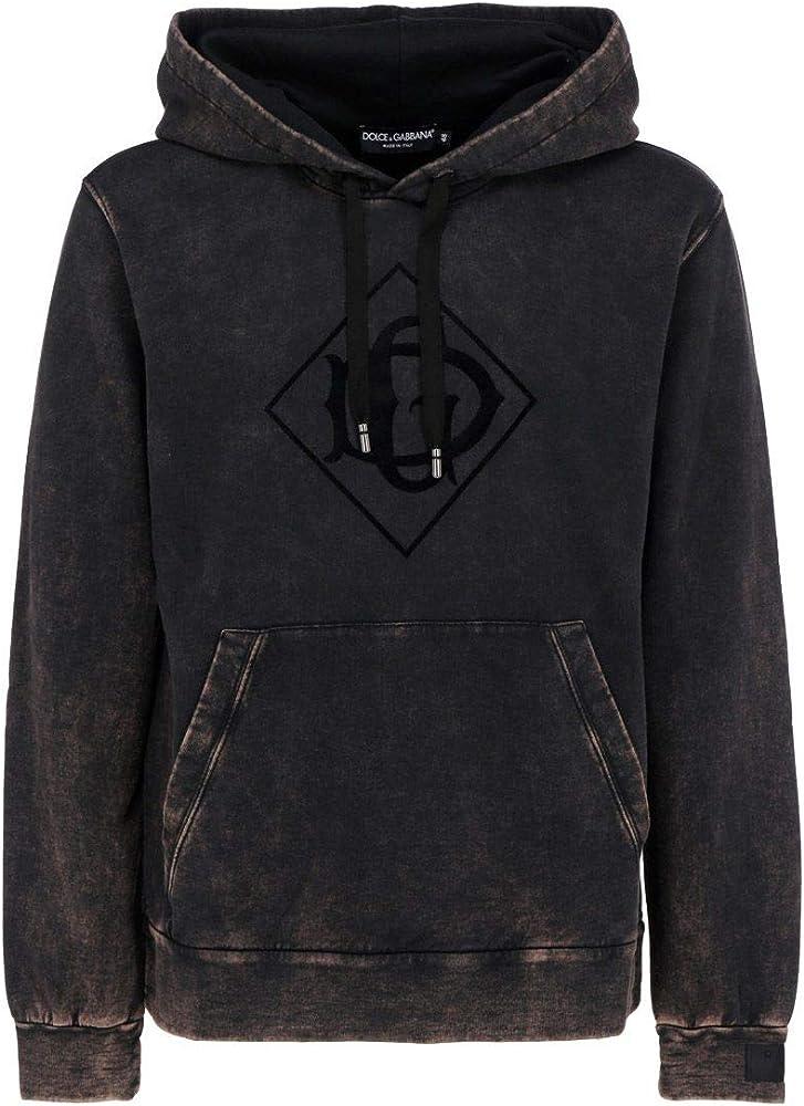 Dolce & gabbana luxury fashion felpa con cappuccio uomo in cotone 100% G9TC6ZFU7DUS9000