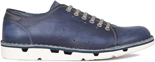 TJ Collection - Sandalias de vestir para hombre Blau y Weiß