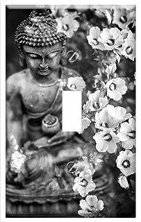 Switch Plate Single Toggle - Buddha Flower Buddhism Religion Meditation Faith