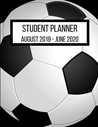 Student Planner August 2019- June 2020: Soccer Player Academic Agenda 8.5 x 11 in. August 2019 to June 2020  Daily Weekly Planner with Assignment and To-Do List