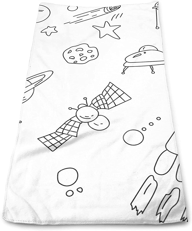 Epushow A Space Theme Graffiti Small Outline Creative Handkerchief Kitchen Handkerchief Bathroom Soft Polyester Microfiber
