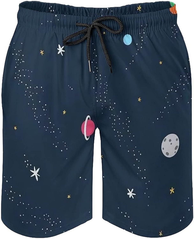 SWEET TANG Mens Fashion Shorts Summer Beach Trunks Casual Plus Size Beach Pants