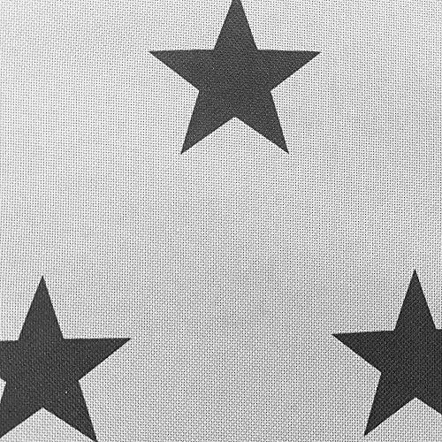 novely® OXFORD 210D   1 lfm   Polsterstoff Polyester Outdoor Wasserabweisend Reißfest Dekostoff   D148 Sterne Grau Anthrazit