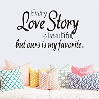1pc Love Story Wall Stickers Removable Wall Art Sticker Living Room Adhesive Vinyl Decals Wallpaper Home Bedroom Decoratio...
