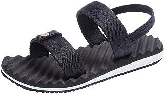 Hombres Sandalias Zapatillas elásticas Banda Plana Anti Slip Abierto Toe Zapatos de Playa Sandalias de Verano al Aire Libre Desgaste Sandalia Resistente al Agua Calzado para Piscina