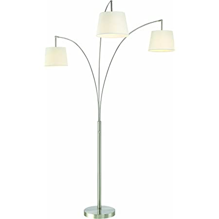 Artiva Usa Led602109fst Luce Led Arched Floor Lamp 84 Inches Brushed Steel
