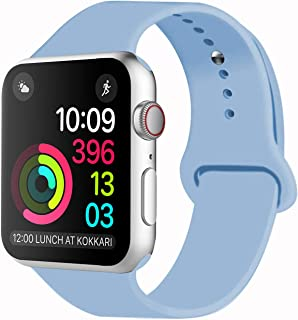 Idon Sport Watch Band, Soft Silicone Replacement Sports Band Compatible with Apple Watch Band 2018 Series 5/4/3/2/1 38MM 40MM 42MM 44MM for Apple Watch All Models