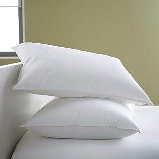 JDX Polyester Blend Fibre Night Sleeping Pillow, white -Set of 2