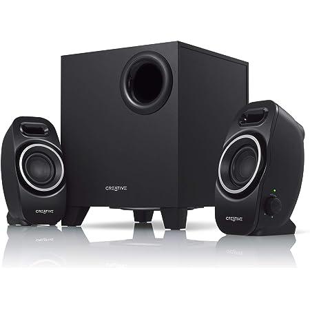 Creative SBS A250 コンパクト サイズで重低音の効いたパワフル サウンドを再生する2.1スピーカー システム SP-SBS-A250