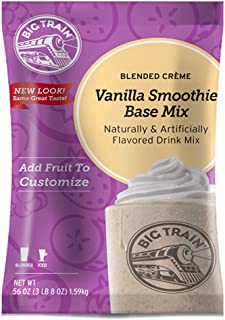 Big Train Blended Creme Mix Base Mix Vanilla Smoothie 3.5 Lb (1 Count) Powdered Instant Coffee Drink Mix, Serve Hot or Cold, Makes Blended Frappe Drinks