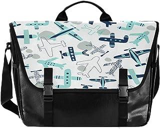 Plane - Bolso de lona para hombre y mujer, diseño retro, color azul