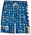 NFL St. Louis Rams Men's Team Color Grid Shorts, Navy/Gold, Medium