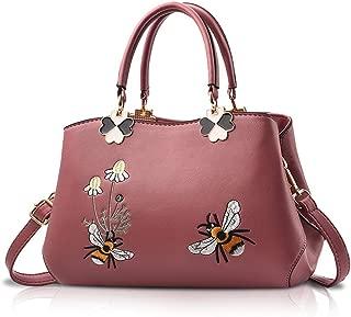 NICOLE&DORIS Women Top Handle Handbags Retro Crossbody Bag Ladies Fashion Shoulder Bag Purse Tote Embroidery