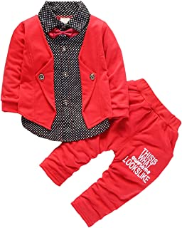 Baby Boys Clothing Set Infant Formal Suits Long Sleeve Children Flower T Shirt Pants Kids Toddler Tops Outfits