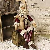 Weihnachtsmann Künstlerpuppe Stoffpuppe Puppe Dekoweihnachtsmann Nikolaus Santa Weihnachtsschmuck...