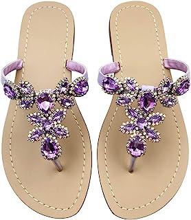 dff4e4d3294a Amazon.com  12 - Purple   Sandals   Shoes  Clothing
